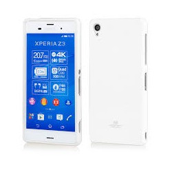 Sony Xperia Z3 Mercury Jelly Silicone Case white