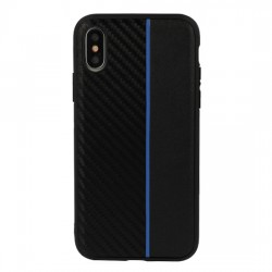 Samsung Galaxy A6 Plus 2018 Testa Moto Silicone Black/Blue