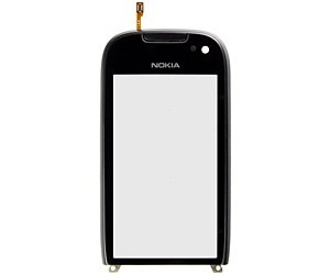 Nokia 701 FrontCover+Touch Screen black ORIGINAL