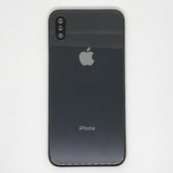 Apple iPhone X BackCover + Camera Lens Black GRADE A