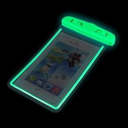 """4,8-5,8""""Waterproof Case Glow 175x105mm Green"""
