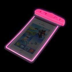 """4,8-5,8""""Waterproof Case Glow 175x105mm Pink"""