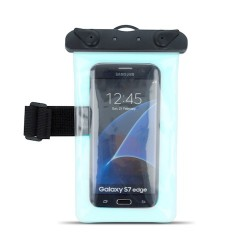 "5,5"" Waterproof Case with Armband blue"