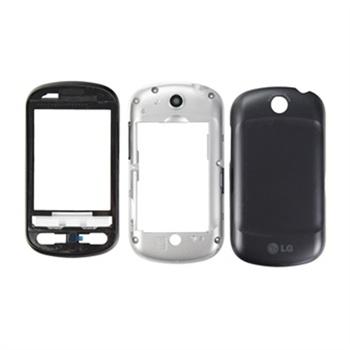 LG P350 Cover silver/black ORIGINAL