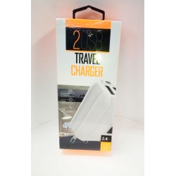Belly Travel Adapter 2Usb 2.4A white