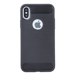 Apple iPhone X/XS Testa Carbon Silicone Black