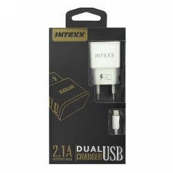 Intexx Type-C Travel Charger 2in1 2.1A