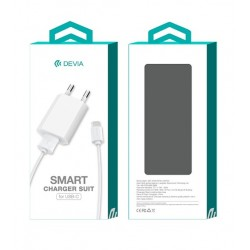 Devia Travel Adapter+Type C Cable White