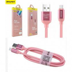Awei CL-81 Micro Usb Fast Data Cable 1m Pink