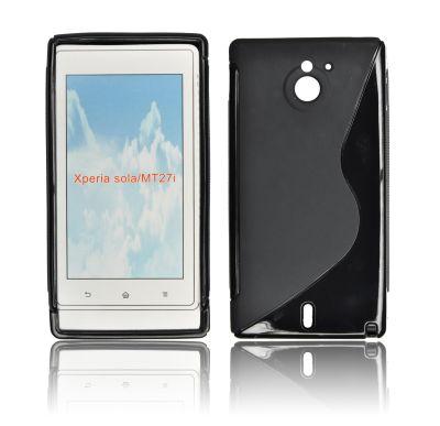 Silicone S-Line Sony Xperia Sola/ MT27i black