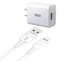XO L36 Travel Lightning Usb 3.0A Quick Charging white