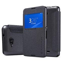 Sony Xperia E4 Nillkin Sparkle S-View Case Black