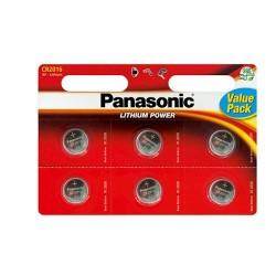Panasonic CR2016 Λιθίου Μπαταρία 6τεμ