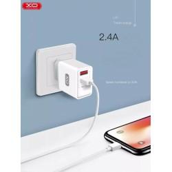 XO L36 Travel MicroUsb 3A Quick Charging White
