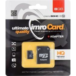 Imro MicroSD Card 8GB+Adapter Class10