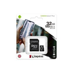 Kingston MicroSD Card 32GB+Adapter Class 10 Up to 100MB/s