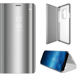 Huawei P40 Lite Clear View Book Case Silver
