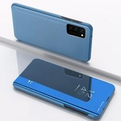 Huawei P40 Lite Clear View Book Case Blue