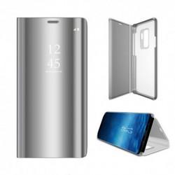 Samsung Galaxy A40 Clear View Book Case Silver