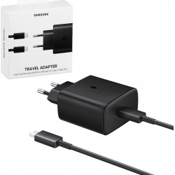 Samsung EP-TA845XBE Super Fast Travel Charger Type C to Type C Cable 5A 45W Black Blister