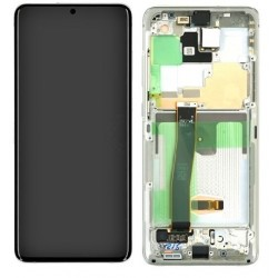 Samsung Galaxy S20 Ultra 5G Lcd+Touch Screen+Frame Cosmic White ORIGINAL