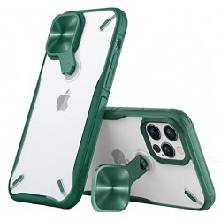 Apple iPhone 12 Pro Max Nillkin Cyclops Silicone Green/Transparent