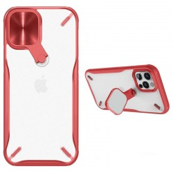 Apple iPhone 12 Pro Max Nillkin Cyclops Silicone Red/Transparent