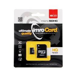 Imro MicroSD Card 16GB+Adapter Class10