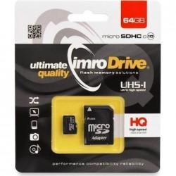 Imro MicroSD Card 64GB+Adapter Class 10
