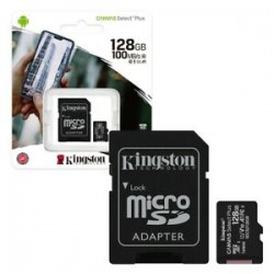 Kingston MicroSD Card 128GB+Adapter Class 10 Up to 100MB/s
