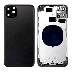 Apple iPhone 11 Pro BackCover Full Body+Camera Lens Black GRADE A