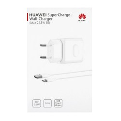 Huawei CP404 (Max. 22.50W SE) SuperFast Travel Charger+Type C Data Cable White 1M Blister ORIGINAL