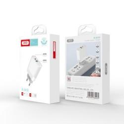 XO Travel Adapter L64 PD QC 3.0 18W 1x USB 1x USB-C White