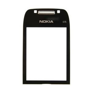 Nokia E75 Display Glass black OEM