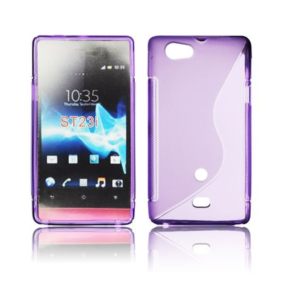 Silicone S-Line Sony Xperia Miro/ST23i violet