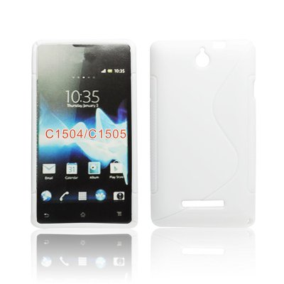Silicone S-Line Sony Xperia E C1604/C1605 white