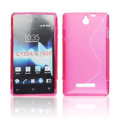 Silicone S-Line Sony Xperia E C1604/C1605 pink