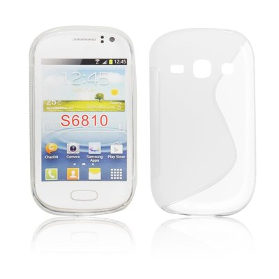 Silicone S-Line Samsung S6810 Galaxy Fame transparent/white