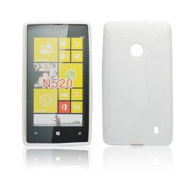 Silicone S-Line Nokia Lumia 520/525 white