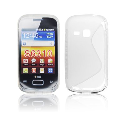 Silicone S-Line Samsung S6310 Galaxy Young transparent/white