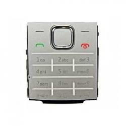 Nokia X2-00 Keypad silver ORIGINAL