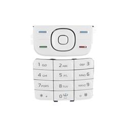 Nokia 5200/5300 Keypad Set white ORIGINAL