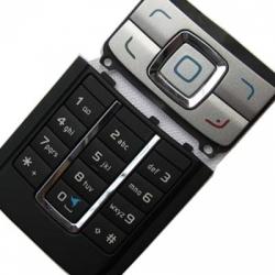 Nokia 6280 Keypad Set black/silver ORIGINAL