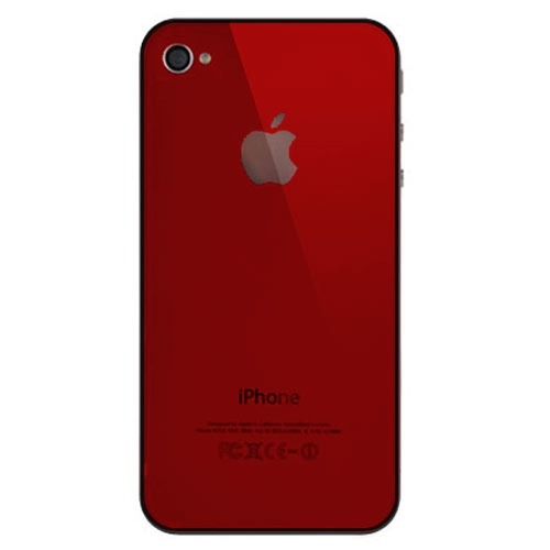 iPhone 4S BatteryCover red HQ