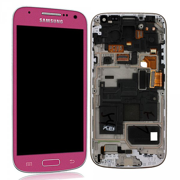 Samsung Galaxy S4 Mini Lcd+Touch Screen+Front pink ORIGINAL