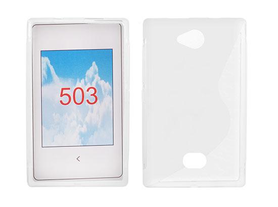 Silicone S-Line Nokia Asha 503 transparent