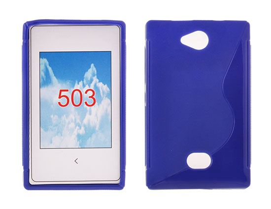 Silicone S-Line Nokia Asha 503 blue